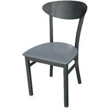 Deluxe Metal Frame Oval Back Chair