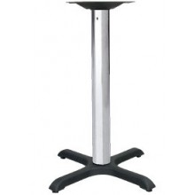 "24"" x 30"" Base Standard Chrome Column Table Base"