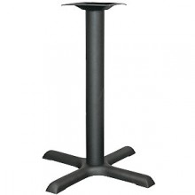 "22"" Base Standard Black Column Table Base"