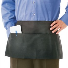 "12"" x 24"" 3 Pocket Poly-Spun Ultra Durable Waist Apron"