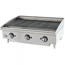 "36"" W Star-Max™ Heavy-Duty Radiant Gas Charbroiler"