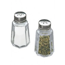1 Oz. Panelled Salt and Pepper Shaker - Flat Top