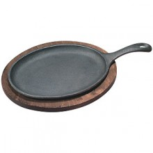 "10"" x 7"" Oval Serving Skillet Complete Set"