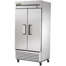 35 Cubic Ft Two Swing Door Freezer - Stainless Steel Doors and Front - Aluminum Ends