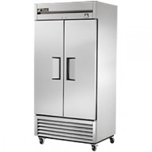 35 Cubic Ft Two Swing Door Freezer - All Stainless Steel