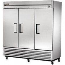 72 Cubic Ft Three Swing Door Freezer - All Stainless Steel