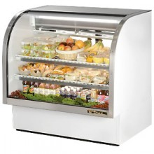 "48 1/4"" W 23.5 Cubic Ft Standard Curved Glass Deli Case"