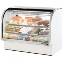 "60 1/4"" W 30 Cubic Ft Standard Curved Glass Deli Case"