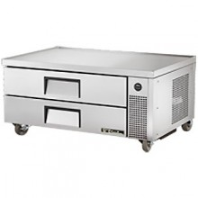 "51 3/4"" W Two Drawer Six Pan Flush Top Refrigerated Chef Base"