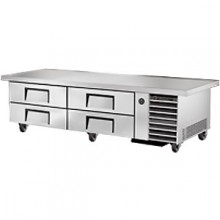 "86"" W Four Drawer Eight Pan Extended Top Refrigerated Chef Base"