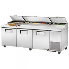 "93 1/2"" W Three Door Pizza Preparation Table"