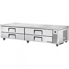 "95 1/2"" W Four Drawer Twelve Pan Flush Top Refrigerated Chef Base"