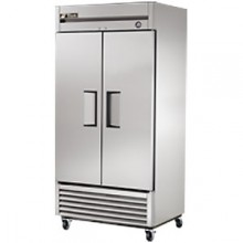 35 Cubic Ft Two Swing Door Refrigerator - Stainless Steel Doors and Front - Aluminum Ends