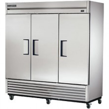 72 Cubic Ft Three Swing Door Refrigerator - Stainless Steel Doors and Front - Aluminum Ends