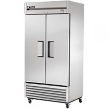 35 Cubic Ft Two Swing Door Refrigerator - All Stainless Steel