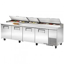 "119"" W Four Door Pizza Preparation Table"