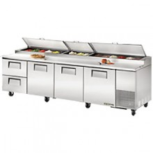 "119 1/4"" W Three Door Two Drawer Pizza Preparation Table"