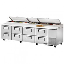 "119 1/4"" W Eight Drawer Pizza Preparation Table"