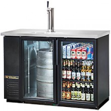 "2 Glass Door 49"" Wide Back Bar Cooler/Draft Beer Dispenser"