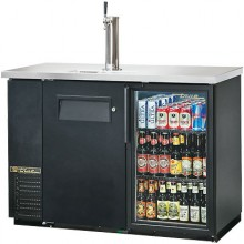"1 Solid Door 1 Glass Door 49"" Wide Back Bar Cooler/Draft Beer Dispenser"