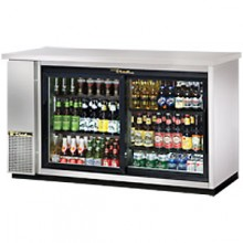 "61"" Stainless Steel Sliding Glass Door Back Bar Cooler"