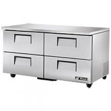 "60 3/8"" W 15.5 Cubic Ft Four Drawer Undercounter Refrigerator"