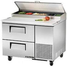 "44 1/2"" W Two Drawer Pizza Preparation Table"