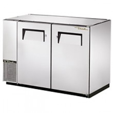 "47 7/8"" Wide Narrow Depth Galvanized Top Solid Door Back Bar Cooler - Stainless"