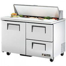 "48 3/8"" W One Door Two Drawer Twelve Pan Drawered Sandwich/Salad Unit"