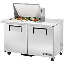 "48 3/8"" W Two Door Twelve Pan Mega Top Sandwich/Salad Unit"