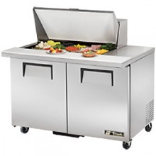 "48 3/8"" W Two Door Fifteen Pan Mega Top Sandwich/Salad Unit"