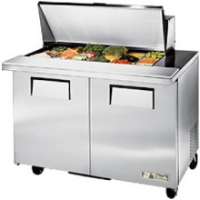 "48 3/8"" W Two Door Eighteen Pan Mega Top Sandwhich/Salad Unit"