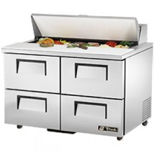 "48 3/8"" W Four Drawer Twelve Pan Drawered Sandwich/Salad Unit"