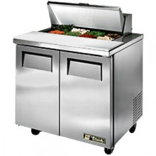 "36 3/8"" W Two Door Eight Pan Sandwich/Salad Unit"