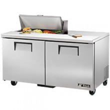 "60 3/8"" W Two Door Eight Pan Sandwich/Salad Unit"