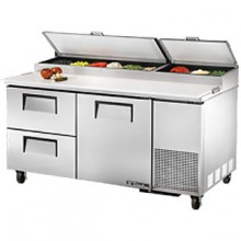 "67"" W One Door Two Drawer Pizza Preparation Table"