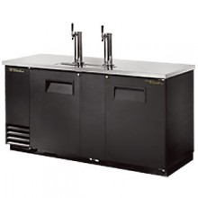 "69"" Wide Direct Draw Draft Beer Dispenser - Black Vinyl"