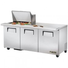 "72 3/8"" W 3 Door 12 Pan Mega Top Sandwich/Salad Unit"