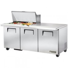 "72 3/8"" W 3 Door 15 Pan Mega Top Sandwich/Salad Unit"