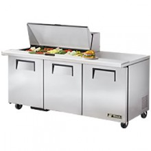 "72 3/8"" W 3 Door 18 Pan Mega Top Sandwich/Salad Unit"
