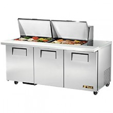 "72 3/8"" W 3 Door 24 Pan Mega Top Sandwich/Salad Unit"