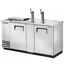 "69"" Wide Club Top Direct Draw Beer Dispensers - Stainless Steel"