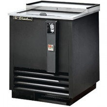 "24 3/4"" Wide Black Exterior Bottle Cooler"