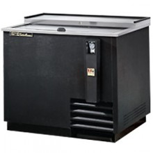 "36 3/4"" Wide Black Exterior Bottle Cooler"