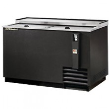"50"" Wide Black Exterior Bottle Cooler"