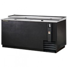 "65"" Wide Black Exterior Bottle Cooler"