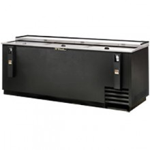 "80 1/2"" Wide Black Exterior Bottle Cooler"