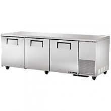 "93 1/4"" W 30.9 Cubic Ft Three Door Deep Undercounter Refrigerator"