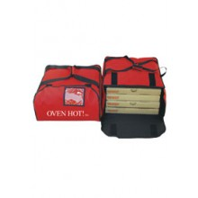 """19"""" x 18 3/4"""" x 9 7/8"""" Oven Hot!™ Pizza Bag - Red"""