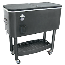 Update International 65 Qt. Capacity Cooler Cart